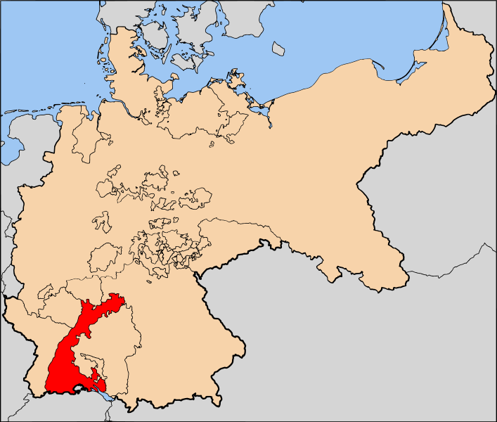 GER - Baden German State Map