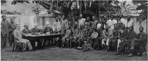 Traditional heads of Ibeku meet with heads of the British administration in Southern Nigeria