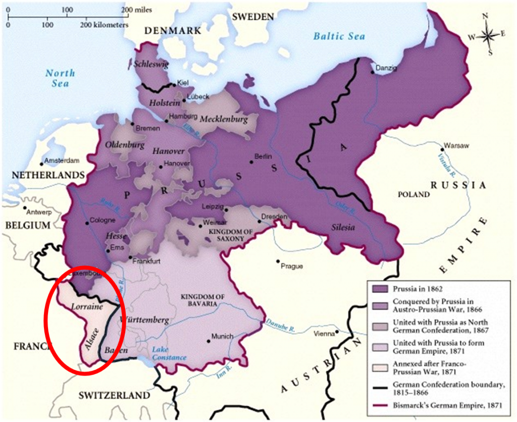 Alsace Lorraine German Occupation during the Franco Prussian War