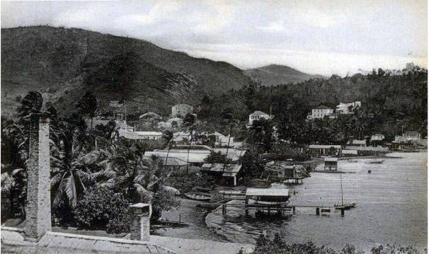 Charlotte Amalie Waterfront, St Thomas, Danish West Indies