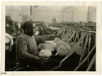 Azerbaijani woman in a cotton mill (ca 1930)
