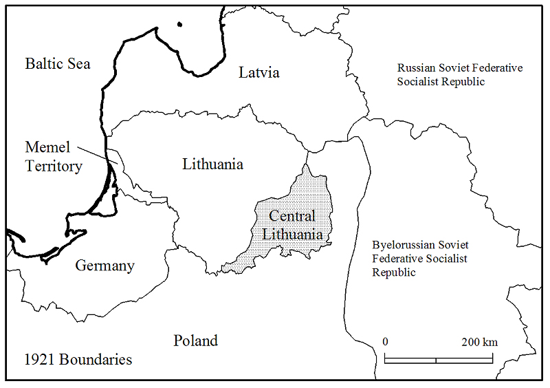 BAL - Central Lithuania Map