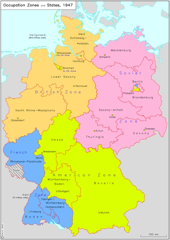 GER - Post WW2 Germany Map