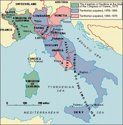 ITA - Italy before Unfication Map
