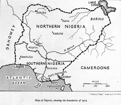 MAF - Southern Nigeria Map