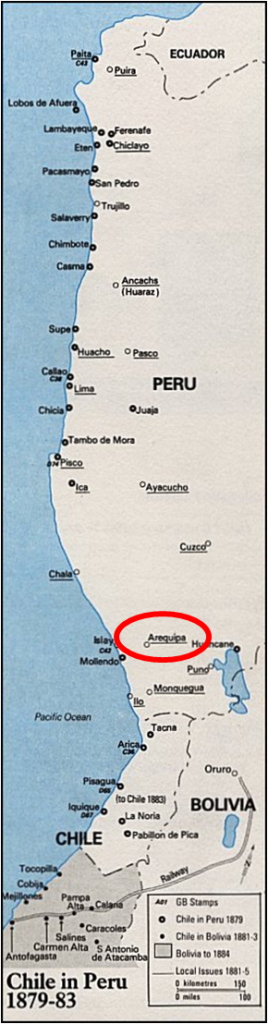 SAM - Arequipa, Chilean Occupation Map