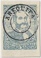 SAM -Arequipa, Chilean Occupation Stamp