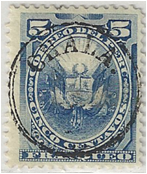 SAM -Chala, Chilean Occupation Stamp