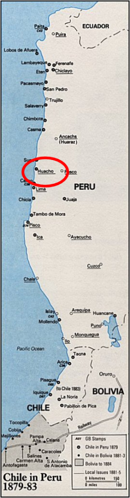 SAM - Huacho, Chilean Occupation Map