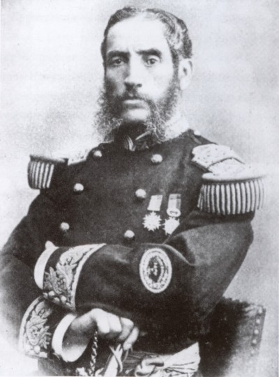 Andrés Avelino Cáceres Dorregaray was three times President of Peru,  1884-1885, 1886-1890, and 1894-1895