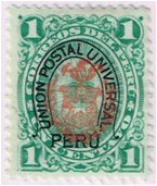 SAM - Peru, Chilean Occ Stamp