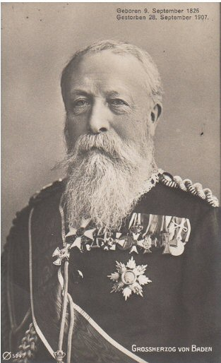 Grand Duke Friedrich of Baden. (reigned 22 Jan 1858 to 28 Sep 1907)