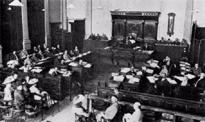Final sitting of the Orange River Colony parliament before Union - 1909
