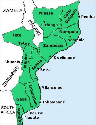 SAF - Zambezia Map