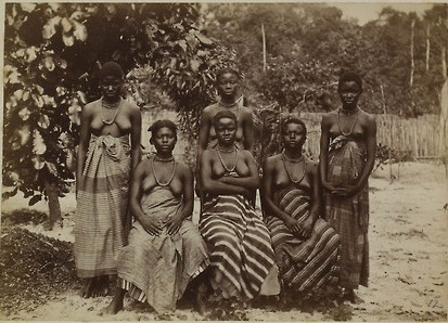Six women from Opobo in Oil Rivers Protectorate, 1882