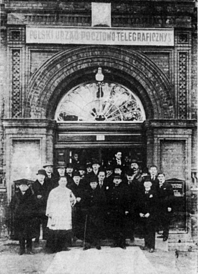 "The opening of the Polish Post Office ""Gdańsk 3"" in 1925"