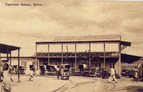 Customs House in Beira, 1910