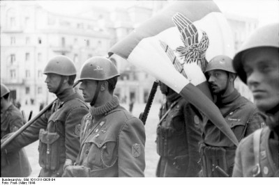 Italian Social Republic soldiers at Nettuno, Italy, Mar 1944 - from the German Federal Archive