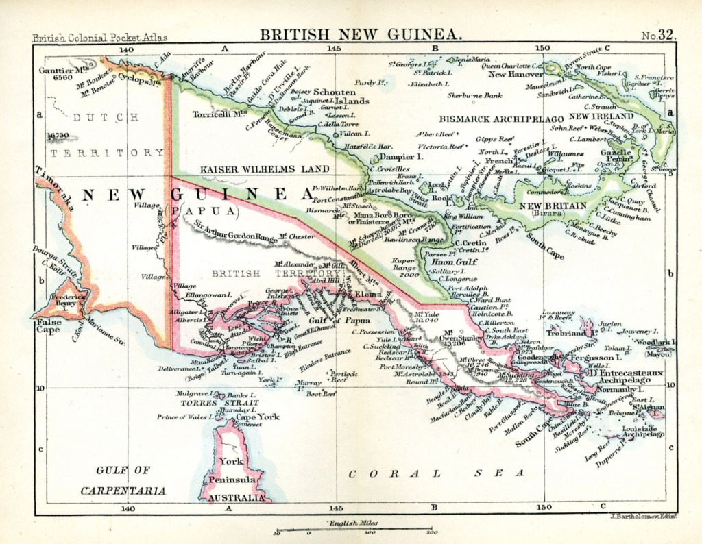 PAC - British New Guinea Map