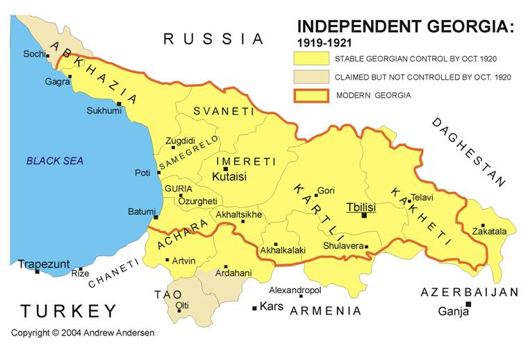 RUS - Georgia, Rep Map