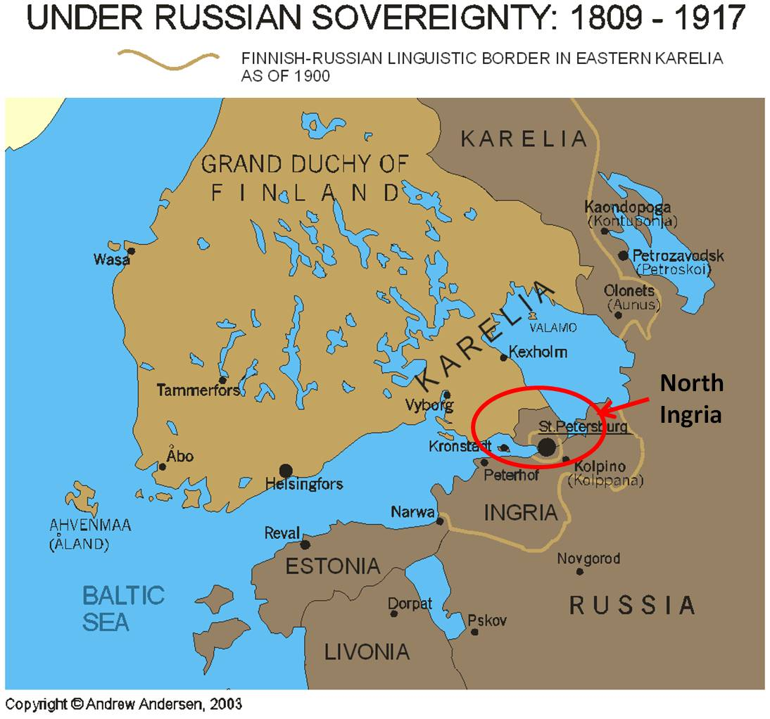 RUS - North Ingria Map