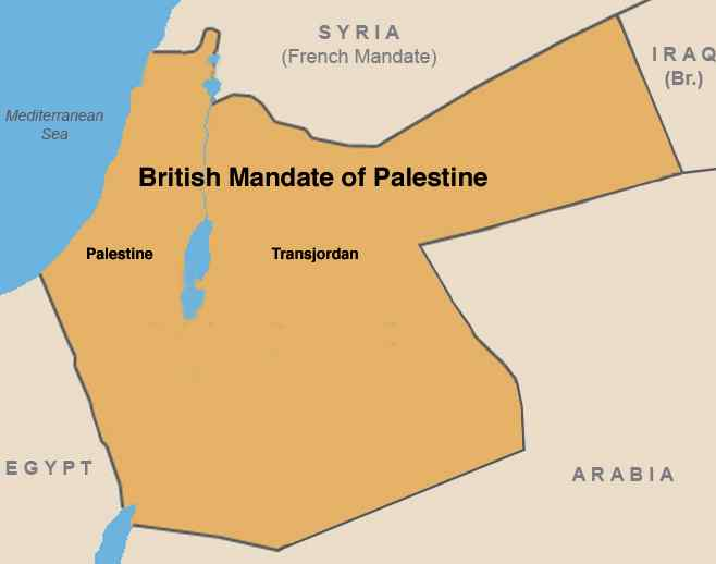 ME - Palestine, British Occ Map
