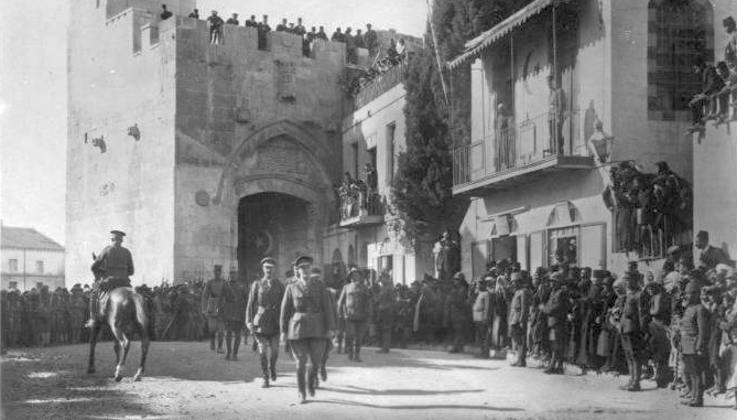 General Sir Edmund Allenby entering Jerusalem on 11 Dec. 1917 (from Liberty's Victorious Conflict: A Photographic History of the World War)