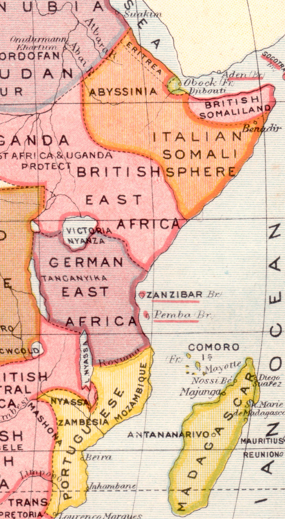 colonial east africa map