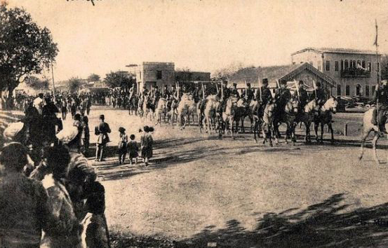 French Troops march into Adana, Feb 3, 1919