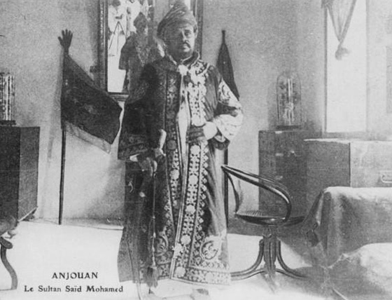 Said Mohamed, the last Sultan of Anjouan